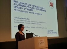 Christiane Behnert speaking at the ASIS&T European Chapter event at HAW Hamburg